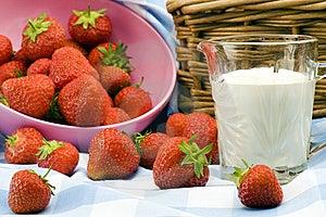 Strawberry Picnic Royalty Free Stock Photography - Image: 15182407