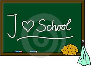 Blackboard I Love School Stock Image - Image: 15183281
