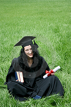 Happy Bachelor With Diploma Royalty Free Stock Image - Image: 15184096