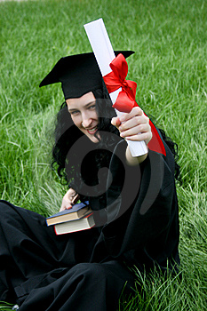 Smiling Caucasian Student With Diploma Stock Image - Image: 15184111