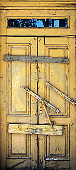 The Old Wooden Door Royalty Free Stock Image - Image: 15184456