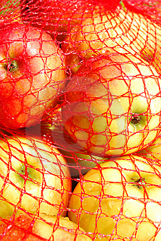 Apples In Sack Stock Photography - Image: 15186212