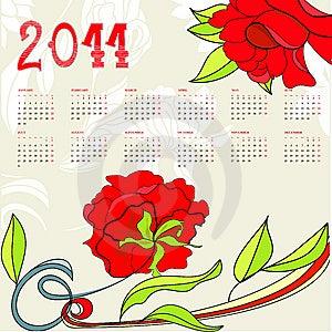 Calendar For 2011 Royalty Free Stock Photos - Image: 15188078