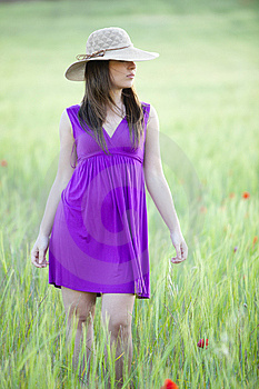 Hiding Behind Her Hat Royalty Free Stock Photography - Image: 15188257
