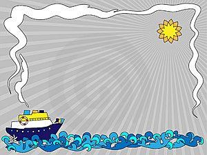 Seaside Frame Stock Image - Image: 15188711