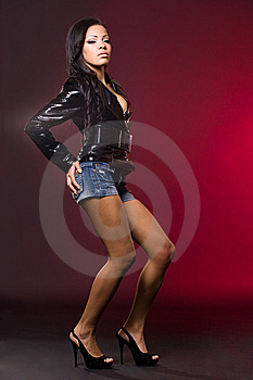 Mulatto Woman In A Jacket Stock Photography - Image: 15188782