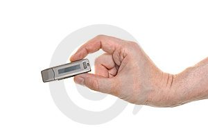 Well Shaped Hand With A USB Flash Stock Images - Image: 15191544