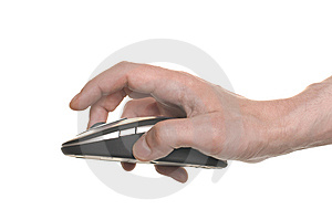 Businessman's Hand Working On Computer Mouse Royalty Free Stock Photography - Image: 15191607