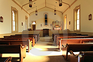 The White Chapel Internal ,Utah Royalty Free Stock Images - Image: 15191609