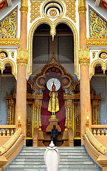 Thai Temple In  Khonkane Province Royalty Free Stock Images - Image: 15192199