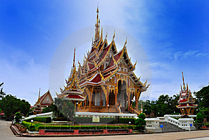 Thai Temple In  Khonkane Province Stock Photo - Image: 15192280