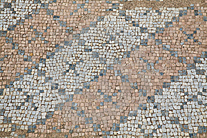 Mosaics At The Great Baths In Dion Royalty Free Stock Photos - Image: 15192648