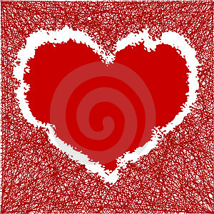 Scribble Heart Stock Photo - Image: 15192780