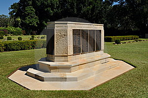 Adelaide River War Cemetry Monument Stock Images - Image: 15194364