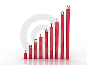 3d Graph Showing Rise In Profits Or Earnings Stock Photography - Image: 15194682