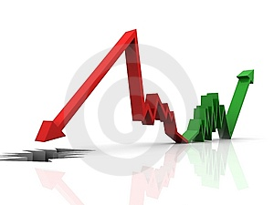 3d Graph Showing Rise In Profits Or Earnings Stock Photos - Image: 15194693