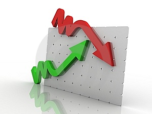 3d Graph Showing Rise In Profits Or Earnings Royalty Free Stock Images - Image: 15194759