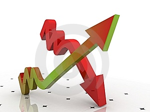 3d Graph Showing Rise In Profits Or Earnings Royalty Free Stock Image - Image: 15194786