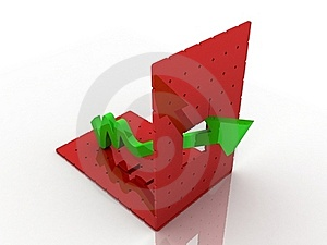 3d Graph Showing Rise In Profits Royalty Free Stock Images - Image: 15194799