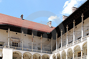 Renaissance Arcades. Wawel Royal Castle In Cracow Stock Photography - Image: 15196032