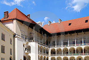 Renaissance Arcades. Wawel Royal Castle In Cracow Royalty Free Stock Image - Image: 15196136