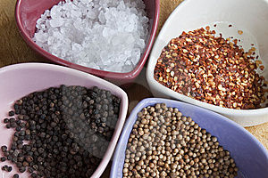 Spices In Bowls Stock Images - Image: 15196574