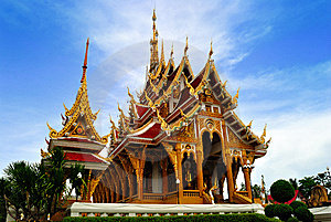 Thai Temple In  Khonkane Province Stock Image - Image: 15196591