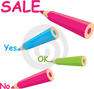 Colorful Pencils Drawing Words Stock Images - Image: 15198524