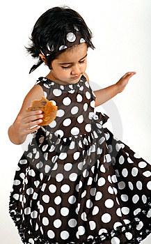 Toddler Eating Chocolate Chip Cookie Royalty Free Stock Photos - Image: 15198778