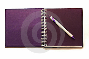 Open Notebook And Pen Royalty Free Stock Image - Image: 15199446
