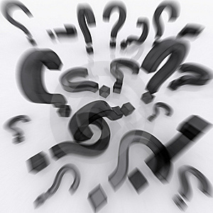Question Marks With Reflection Stock Photo - Image: 15199880