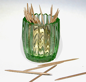 Glass Toothpick Holder Stock Photo - Image: 1520940