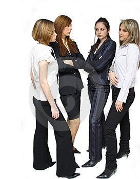 Negocio exitoso equipo de mujeres de la discusión.