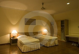 Hotel Bedroom Stock Photography