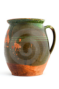 Old Green Clay Jar Royalty Free Stock Images - Image: 15200339