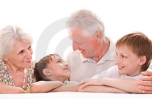 Portrait Of A Happy Family Stock Image - Image: 15200951