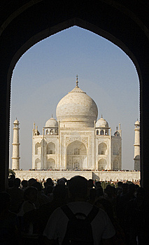 Taj Mahal Entrance Gate Royalty Free Stock Image - Image: 15201396