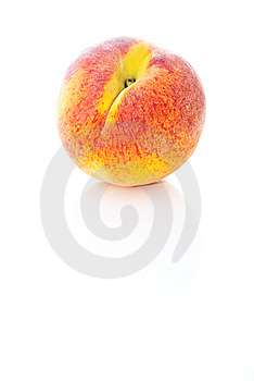 Peach On White Background Stock Image - Image: 15201881