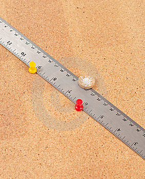 Ruler On Cork Board Royalty Free Stock Photo - Image: 15203205