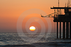 Sunset At Scripps Pier Stock Photos - Image: 15204153