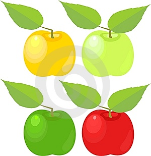 Apples With Leave Stock Photo - Image: 15204530