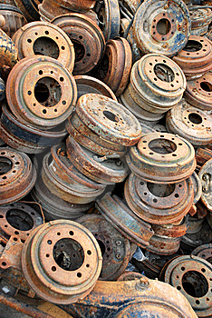 Rusted Brake Rotors Stock Image - Image: 15208011