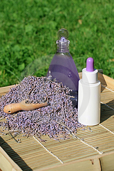 Lavender Essential Oil And Gel Royalty Free Stock Photo - Image: 15208805