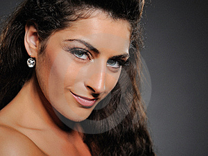 Beautiful Brunette Woman With Natural Make-up Stock Photography - Image: 15209522