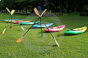 Colorful Oars Royalty Free Stock Images - Image: 15210399