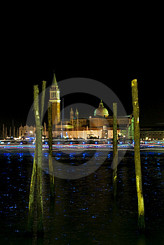 Venice By Night Royalty Free Stock Images - Image: 15210459
