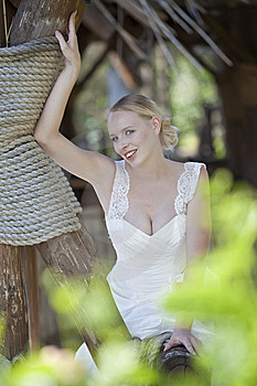 Happy Bride Outdoor Stock Image - Image: 15217151