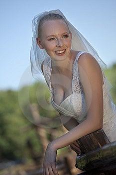 Happy Bride Outdoor Stock Image - Image: 15217211