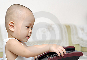 Baby With Telephone Stock Photos - Image: 15218703
