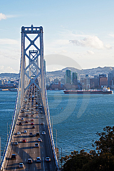 Bay Bridge View Royalty Free Stock Photo - Image: 15221775